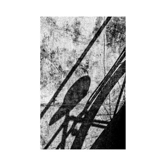 Fine art photography / 'Before breakfast' / Amsterdam Dutch bike / Black and white street photography / Fine art print / Bicycle shadow