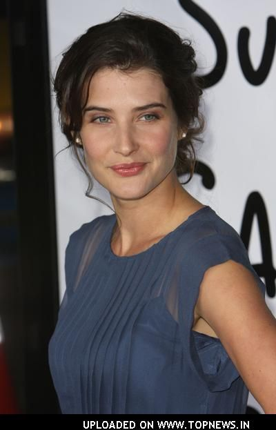 cobie smulders in slate blue -Deep Soft Summer. Also typed Cool and Bright Winter