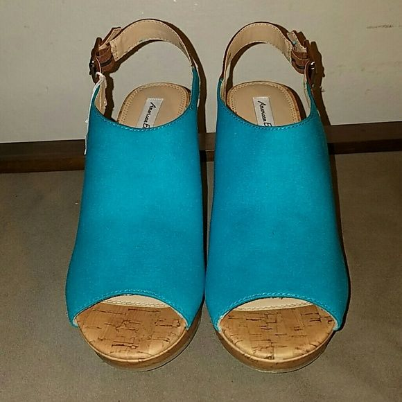 Wedge sandals Teal wedge sandals American Eagle  Shoes Wedges