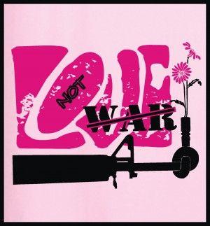 Love not war #tshirtdesign #tshirtprint #goodvsevil #tinygecko #love #war