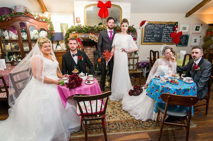 Charity wedding promo shoot at The Workshop Tearooms Cork dress by Diamond Bridal