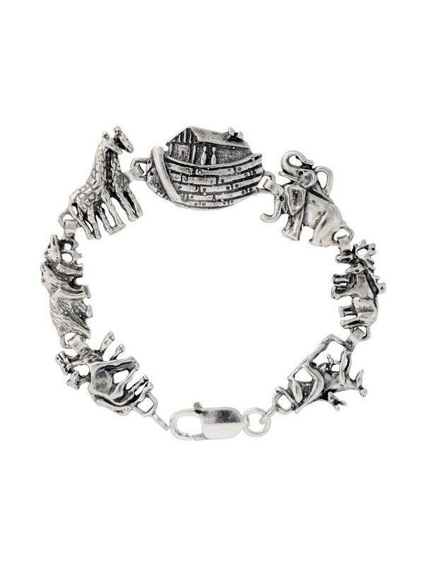 Sterling Silver Noah's Ark Bracelet , 3/4 inch (19 #Jewelry #Bracelets