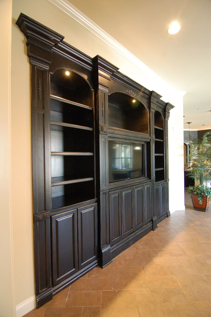 Custom built entertainment center entertainment center - Wall units for living room mumbai ...