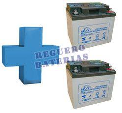 Conjunto de 2 Baterías De GEL 12 Voltios 40 Amperios para Aplicaciones Ciclicas Leoch LPG12-40
