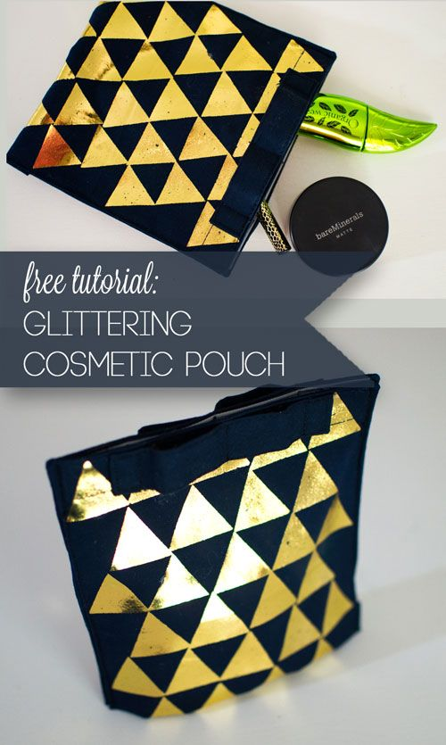 Glittering Cosmetic Pouch - with iCraft Deco Foils {tutorial} — SewCanShe | Free Daily Sewing Tutorials