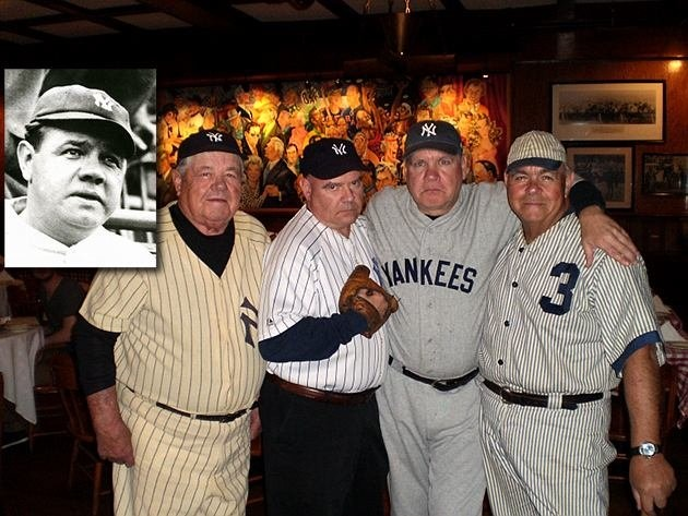 """A siting of the """"The Babe"""" recently. I think if I looked like him, I would wear a Yankee jersey too."""