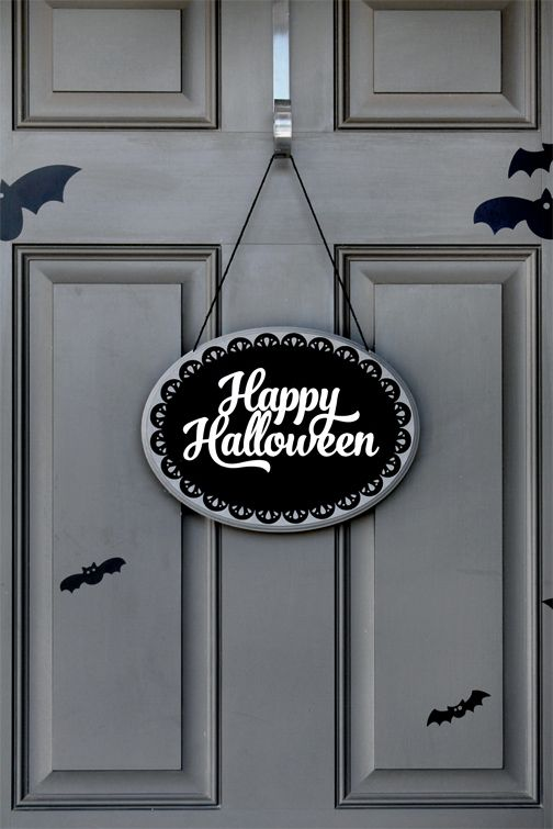 Silhouette America Blog | Stenciled Happy Halloween Plaque