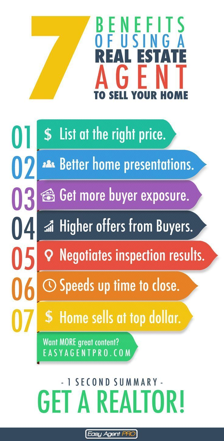 Attractive 7 Benefits Of Using A Real Estate Agent To Sell Your Home. This Cool  Infographic