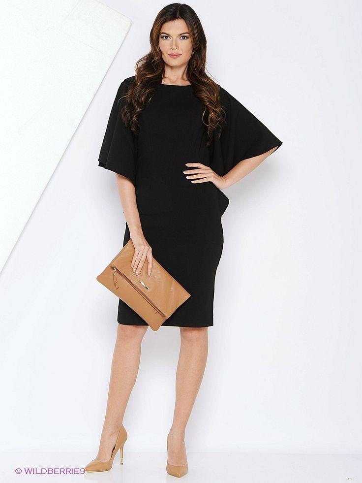 Платье MARBI. Цвет черный.