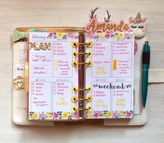Twine It Up! by Annie's Paper Boutique : Planner Friday - February My week - spring theme #anniespaperboutique