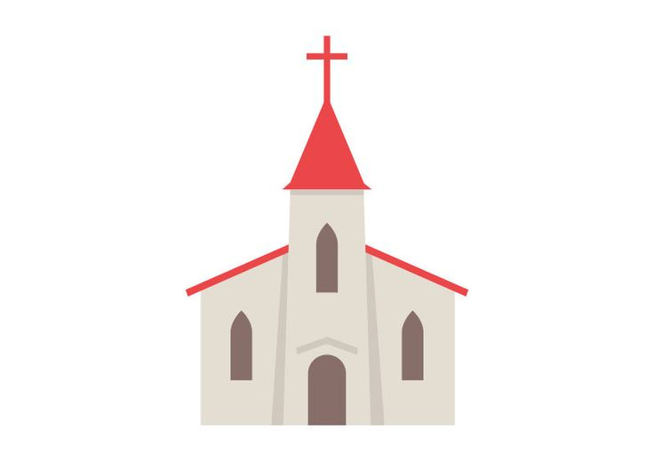 Church Flat Vector