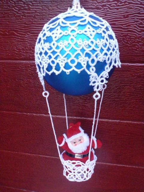 This is a digital pattern in pdf format for Christmas Bauble Tatted Hot Air Balloon Pattern suitable for Baubles size 4 inches (10cm). Finished item will be 10 inches (25cm) top to bottom. Pattern is ready for an instant download. Pattern will take you through all the steps in detail