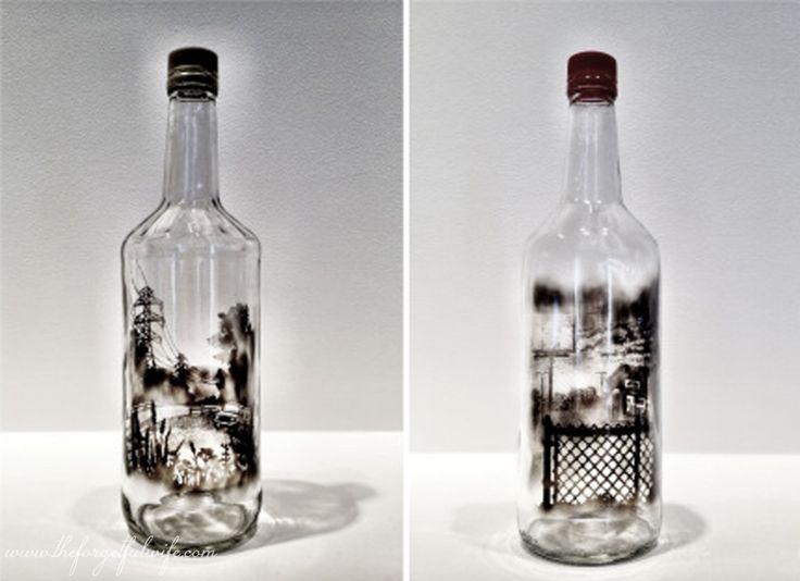 1000 ideas about empty liquor bottles on pinterest liquor bottles liquor bottle lamps and - Uses for empty liquor bottles ...