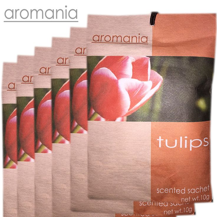 6PCS/lot Aromania Fresh Tulips Scented Sachet Fragrance Drawer Sachet Bag For Bedroom Car Flavor Fragrance Indian