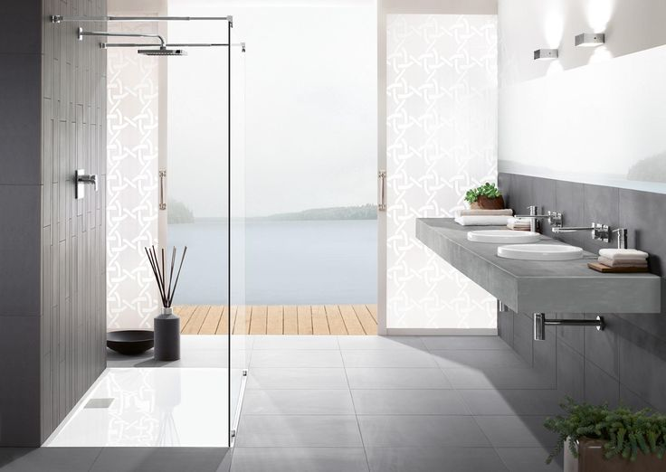 117 best Bathroom images on Pinterest Bathroom, Modern bathroom - badezimmer fliesen villeroy und boch