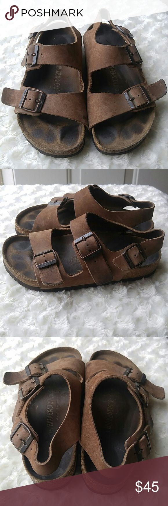 Birkenstock sandal Made in germany pre owned birkenstock with some visible wear  **see pics** but still in great condition. Size 35 Birkenstock Shoes Sandals