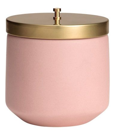 Scented Candle in Holder | Light pink/fresh citrus | Home | H&M US