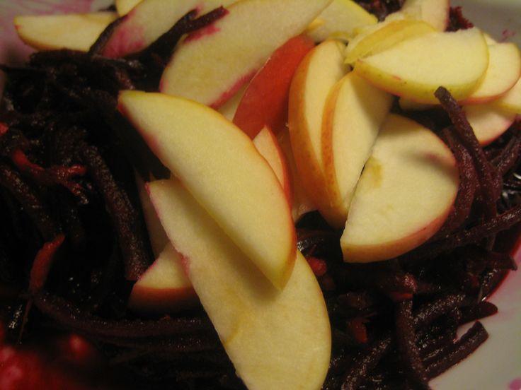 rødbedesalat med æble og ingefær