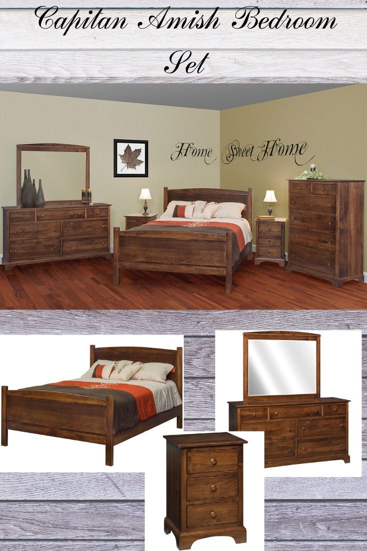 Capitan Amish Bedroom Set Rustic Bedroom Furniture Bedroom