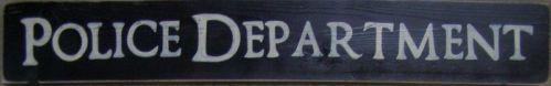 POLICE DEPARTMENT Boys Room Decor Sign Plaque COPS