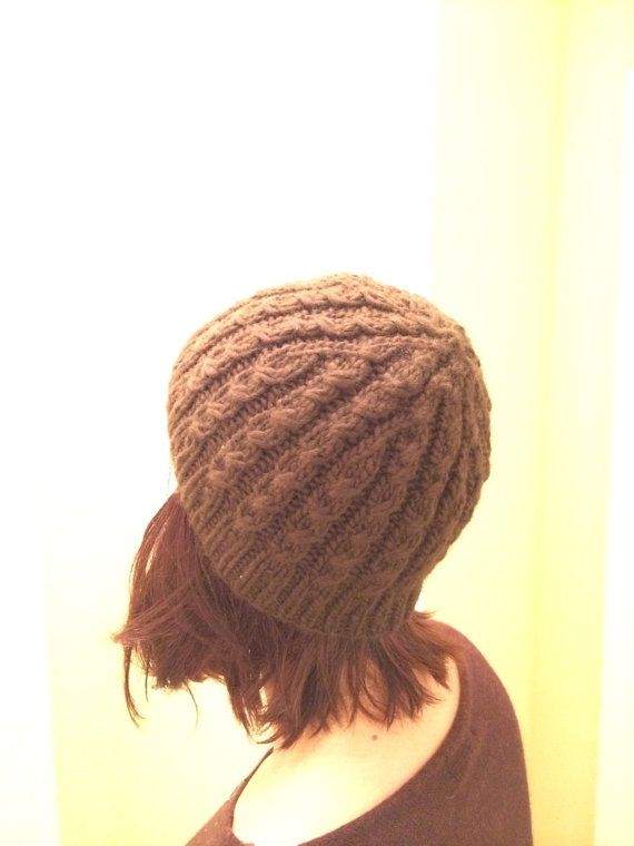 Teddy Cabled Hat by KnittedWool on Etsy $38