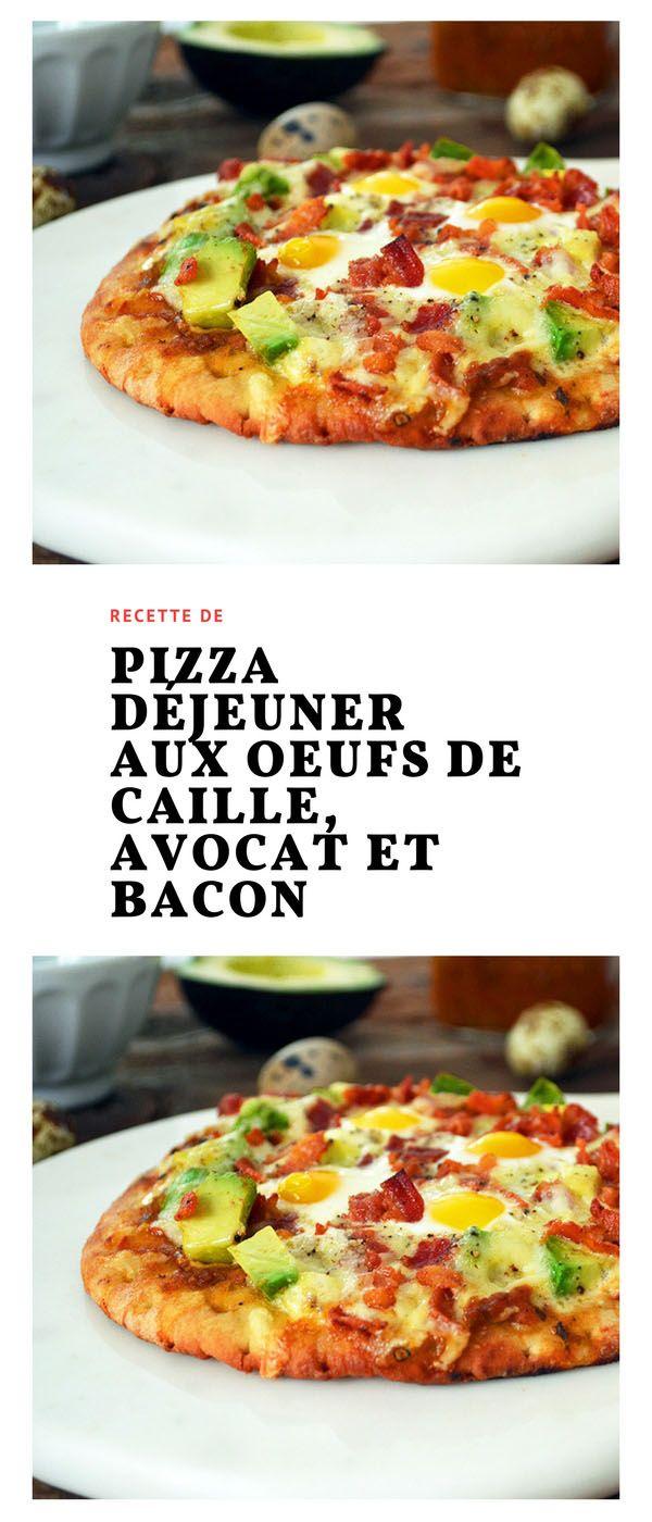 #pizza #déjeuner #oeufs #caille #avocat #bacon