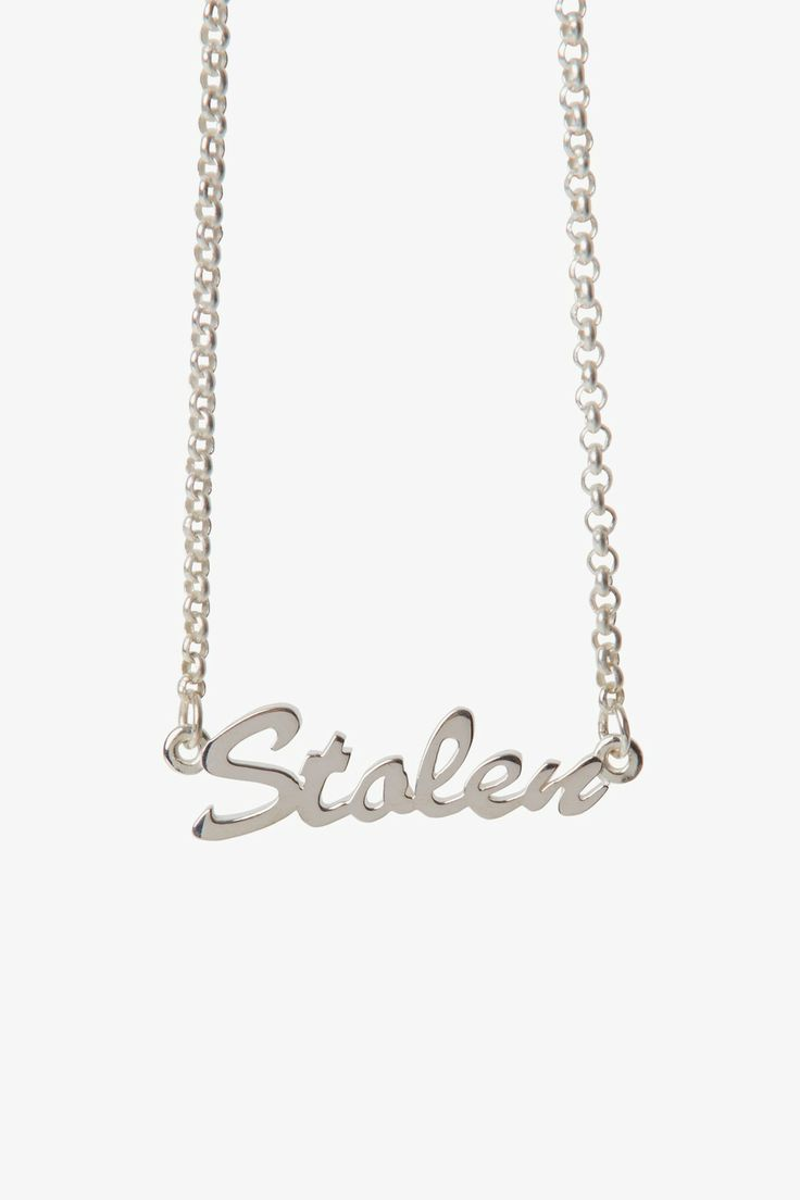 Stolen Girlfriends Club Jewellery - Stolen Script Necklace. NEEEEEEDDDDD available at Superette