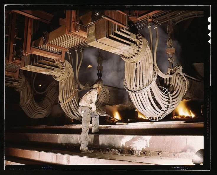 All sizes | Large electric phosphate smelting furnace used in the making of elemental phosphorus in a TVA chemical plant in the Muscle Shoals area, Alabama (LOC) | Flickr - Photo Sharing!