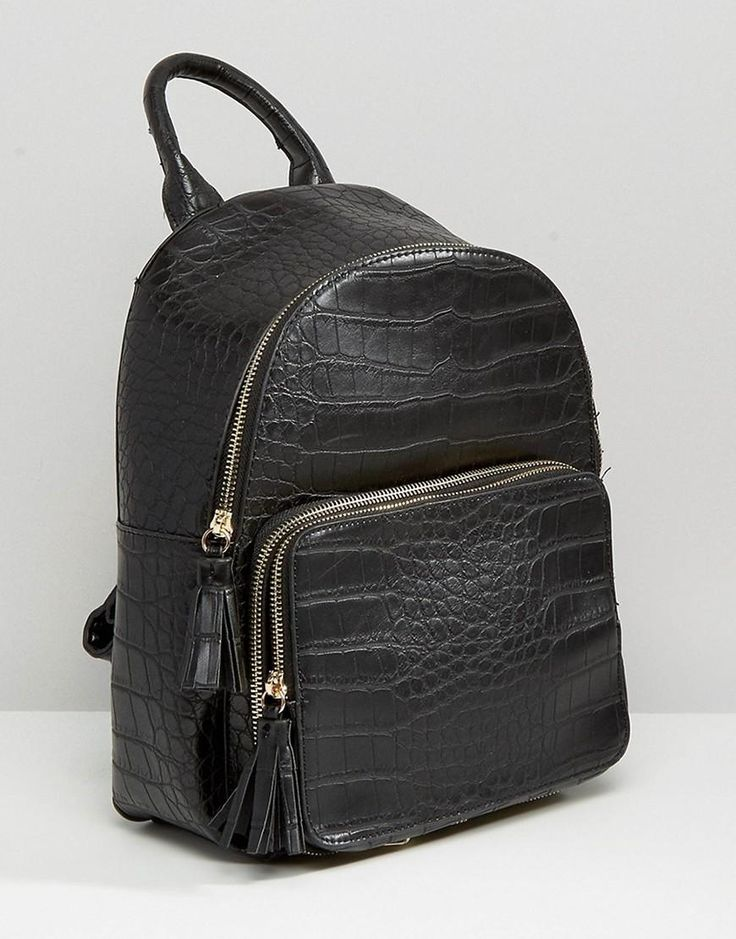Skinnydip | Skinnydip Faux Leather Croc Backpack at ASOS