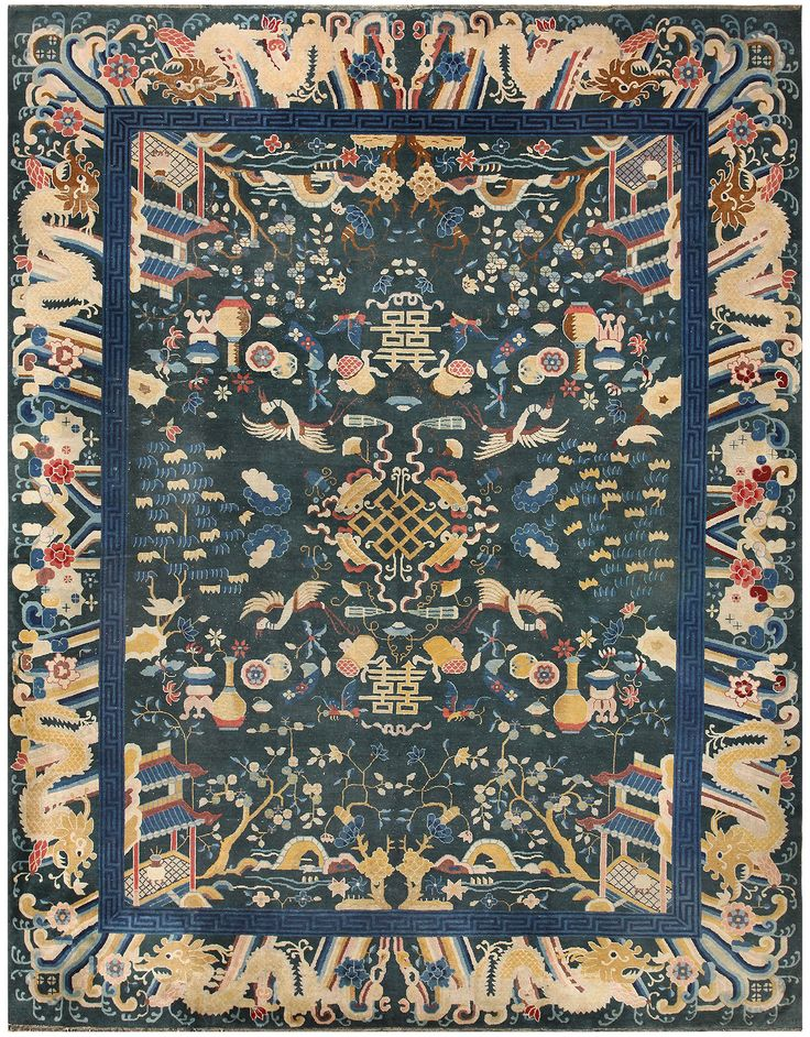 Antique Chinese Animal Rug 48430