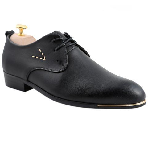 Stylish Men's Formal Shoes With Pointed Toe and Lace-Up Design