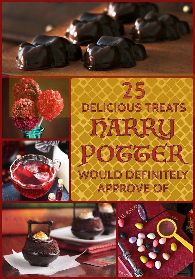 25 Delicious Treats Harry Potter Would Definitely Approve Of. Make sure you check out the recipe for the exploding bonbons. It was quite entertaining...