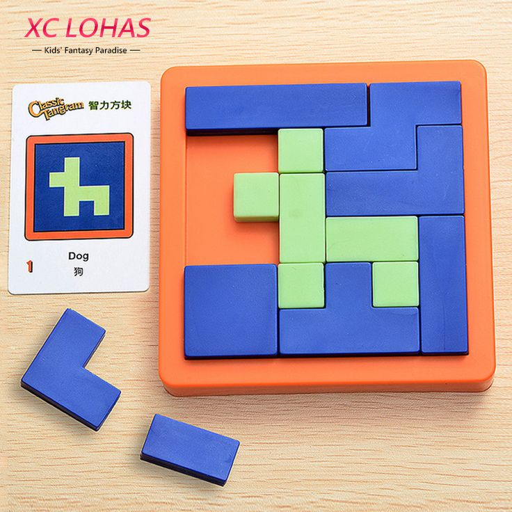 Plastic Jigsaw Puzzles Classic Tangram IQ Brain Teaser Children Puzzle Cube Game Baby Learning Education Toys Fast Shipping