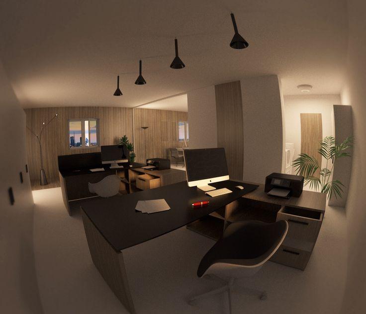 Interior design workplace  Office modern minimal