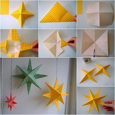 kreative origami sterne - falten anleitung und diy ideen