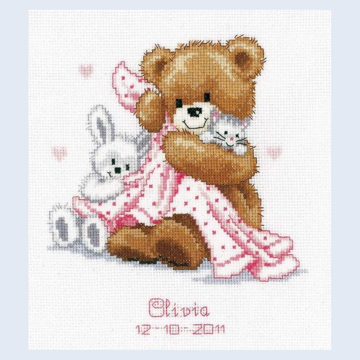 Teddy Mateo - Olivia - counted cross-stitch kit Vervaco