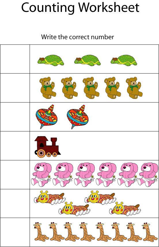 Counting Worksheets : Preschooler Education : Preschoolers : pregnancy and parenting on JustMommies