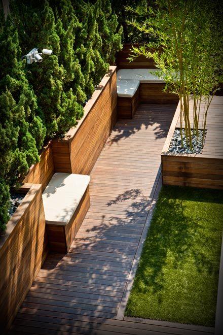 bamboo wood patio