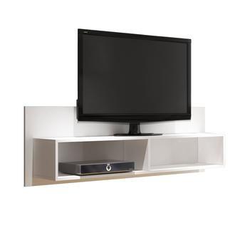 Rack Suspenso para TV até 32 Polegadas BW 03 Branco - BRV Móveis - 44,80 x 136,00 x 26,50