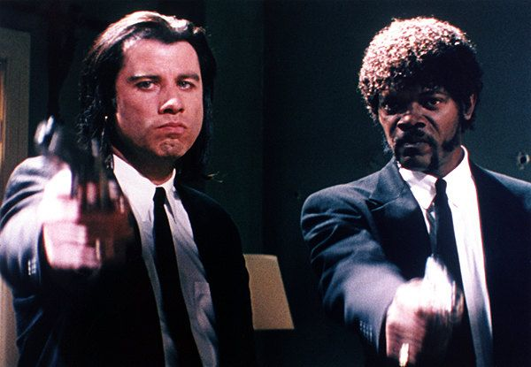 """Jules Winnfield and Vincent Vega  V: """"Have you ever given a foot massage?   J: """"Don't be tellin' me about foot massages. I'm the foot fuckin' master."""""""