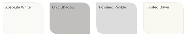 Bedroom colour scheme (Dulux). Would paint the walls in the two grey shades.