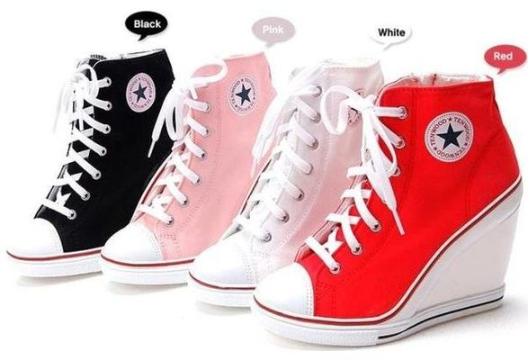 Wish | Converse Style High Heel Shoes