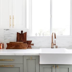 Ikea Domsjo Sink, Transitional, kitchen, Farrow and Ball Wimborne White, Smitten…