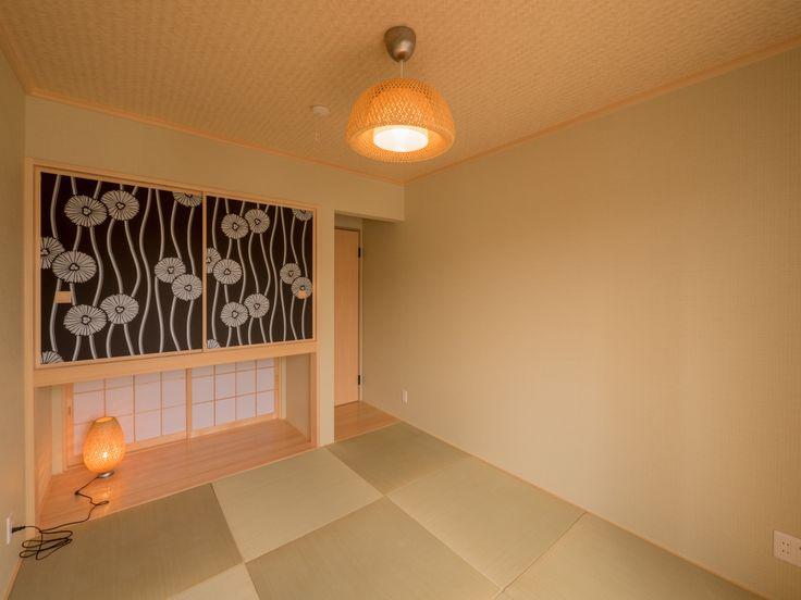 パナソニック耐震住宅工法テクノストラクチャーで建設されたステンドグラスのある家:和室