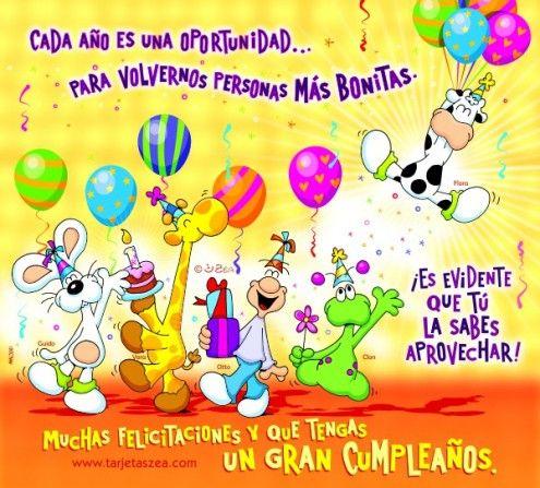 Imagen de cumpleaños-una oportunidad-Guido, Vera, Otto, Clonen una fiesta de cumpleaños© ZEA www.tarjetaszea.com