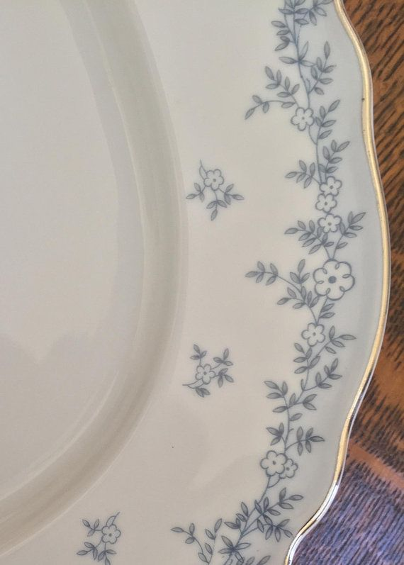 Vintage Franconia Oval Platter Delphine Pattern Germany Vintage China Anniversary Gift Vintage Gift Blue and White Farmhouse Wedding & Vintage Franconia Oval Platter Delphine Pattern Germany Vintage ...