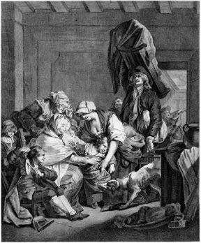 Возвращение от кормилицы. Жан-Баптист Грез