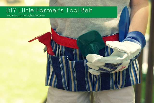 free pattern and tutorial for a tool/gardening belt from #GrowingHome
