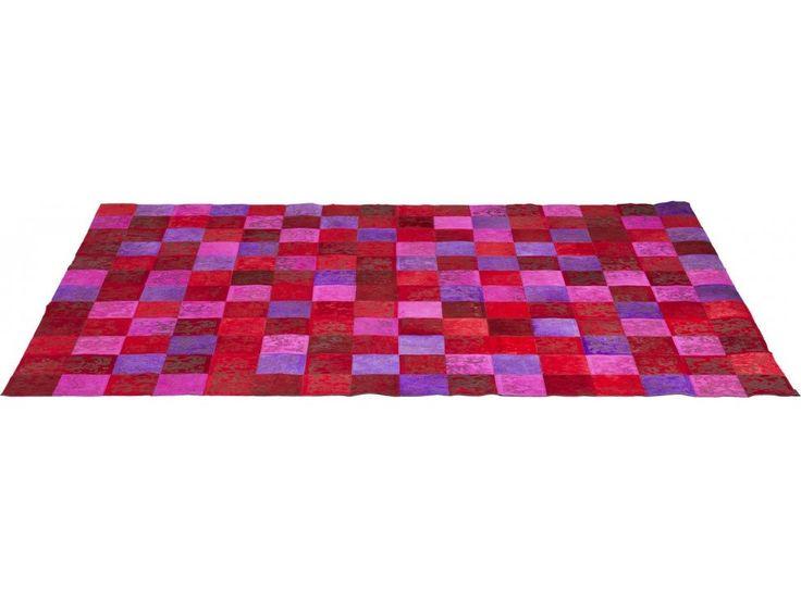 Dywan Patchwork czerwony — Dywany Kare Design — sfmeble.pl