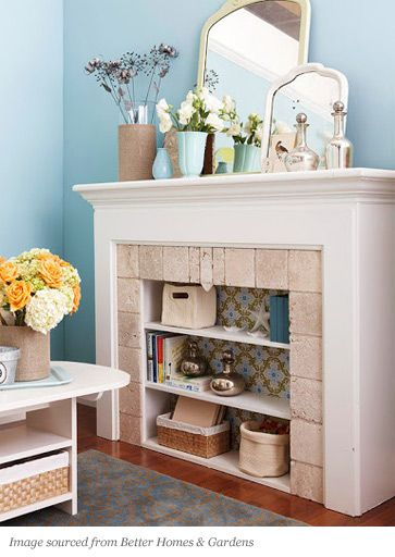 Design Tips - Unique Ideas for an Empty Fireplace | Plumbs